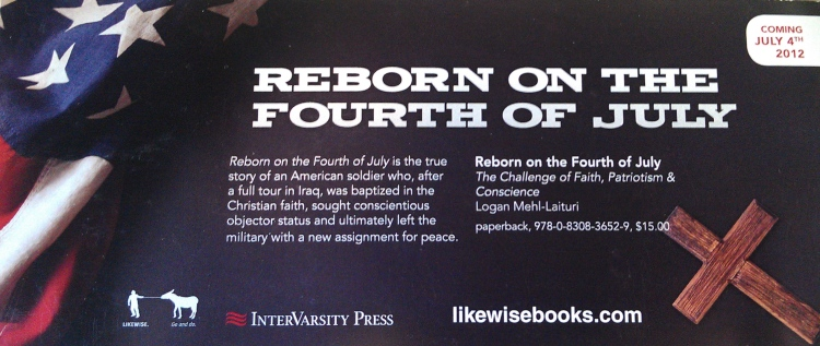Reborn on the Fourth of July promo card