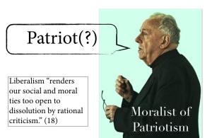 Moralist of Patriotism character